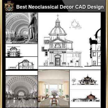 ★【Villa CAD Design,Details Project V.1-England Royal Style】Chateau,Manor,Mansion,Villa@Autocad Blocks,Drawings,CAD Details,Elevation