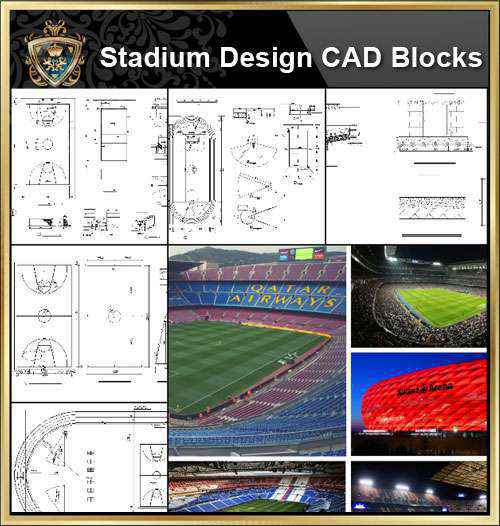 ★【Stadium CAD Blocks-Stadium,Gymnasium, track and field, playground, Sports hall V.2】@basketball court, tennis court, badminton court, long jump, high jump ,CAD Blocks,Autocad Blocks,Drawings,CAD Details