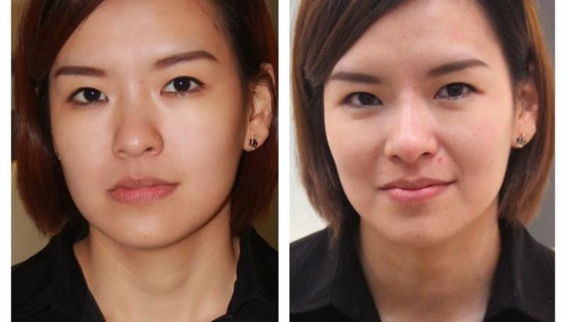 woman face transformation