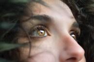woman with hazel eyes