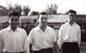 """1952 - Orazio Fattoracci (al centro) al """"Chiappitto"""" di Alatri."""