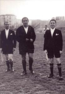 Gennaio 1957 - Tonino Pellegrini arbitro al Vomero in Napoli - Palermo