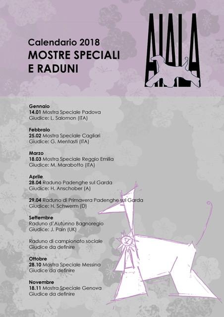 Expocani Calendario.Esposizioni 2018 A I A L A