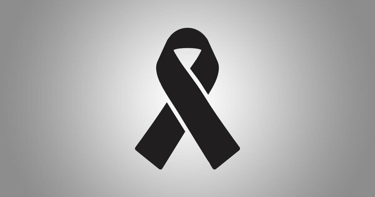 Il simbolo internazionale di Lutto.