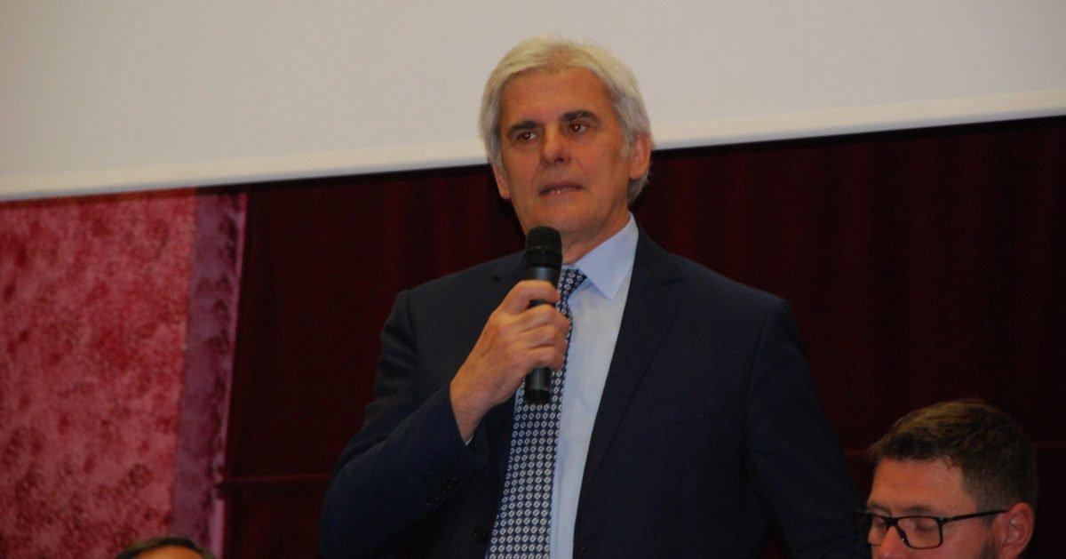 Marcello Nicchi durante il sessantesimo della nostra sezione.