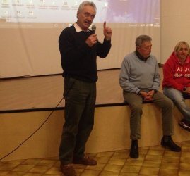 Piero Patrussi durante una riunione del CRA Emilia-Romagna