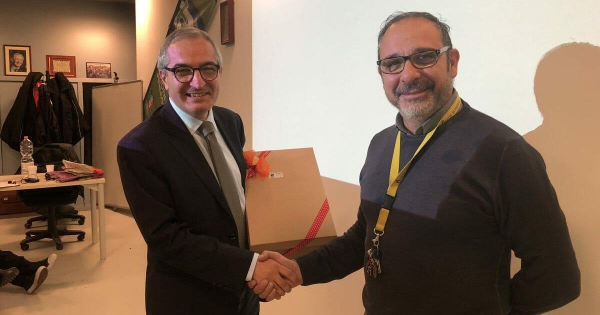 Il Presidente Puddu insieme al presidente regionale Luigi Stella