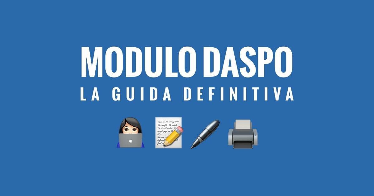 Modulo Daspo, la guida definitiva