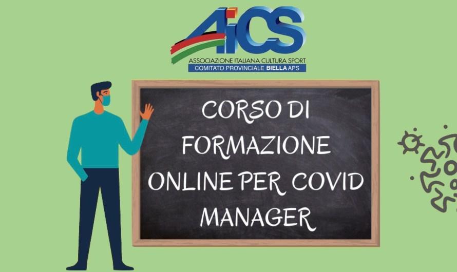 CORSO DI FORMAZIONE PER COVID MANAGER