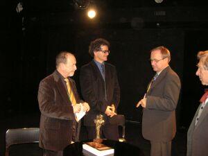 Od lewej: Tomasz Miłkowski, Mirosław Kocur, Milos Mistrik i Wojciech Siemion