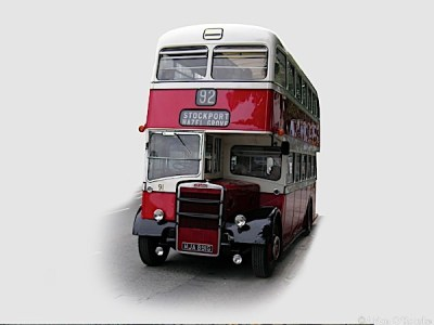 Stockport Corporation 92 bus from the Museum of Transport, Manchester