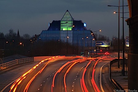 The M60 and the Pyramid at dusk