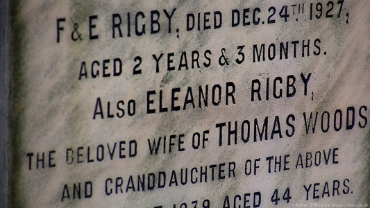 Eleanor Rigby gravestone