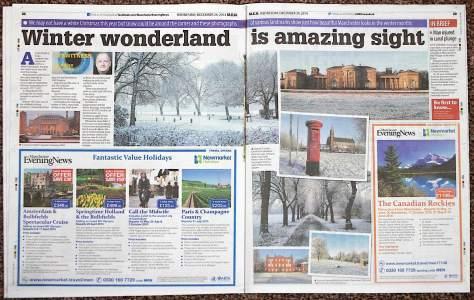 Eyewitness feature on snow Manchester Evening News 24 Dec 2014