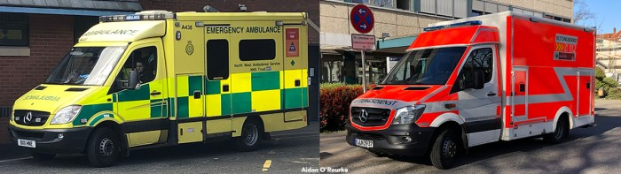 Ambulances in the UK and Germany
