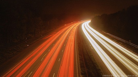 M56 light trails, Cheshire