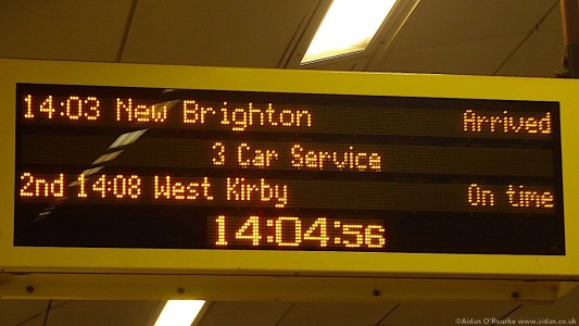 New Brighton train sign, Lime St Station