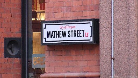 Liverpool Mathew Street sign