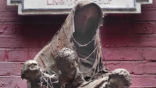 Four Lads who shook the world artwork, Mathew Street, Liverpool