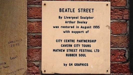 Beatle Street sign, Mathew Street 1995