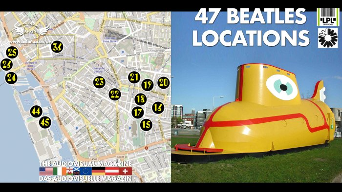 47 Beatles Locations Map and Yellow Submarine Thumbnail