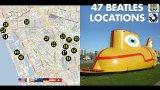 47 Beatles Locations Map and Yellow Submarine Thumbnail