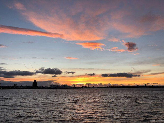 Sunset over the Mersey from the Albert Dock 28.08.2020