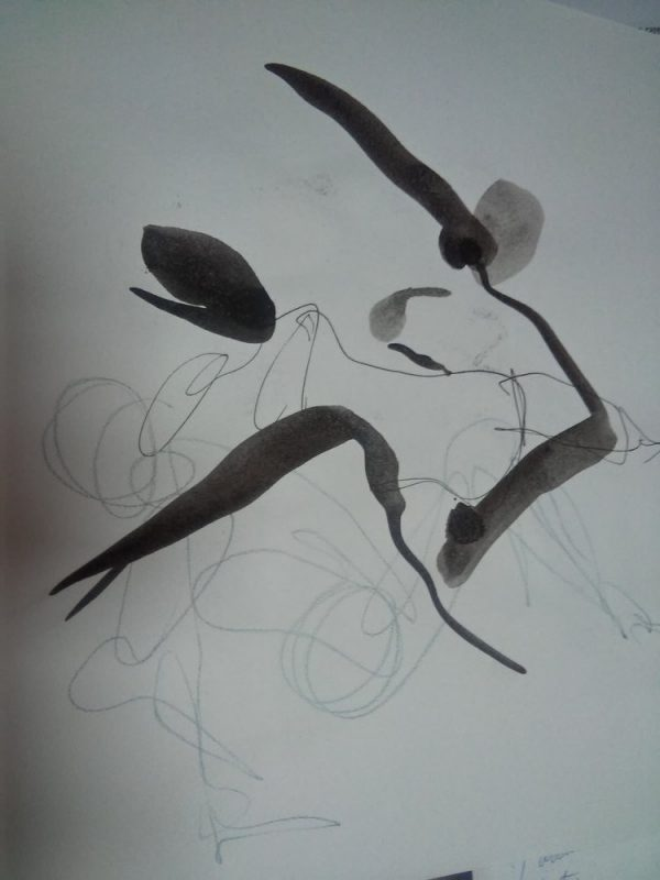 dessin papier envre de bistre