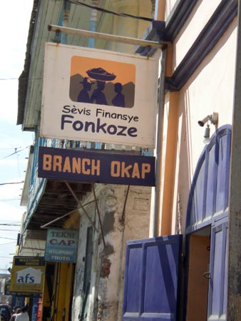 Fonkoze office in Cap Haitien (January 2008)