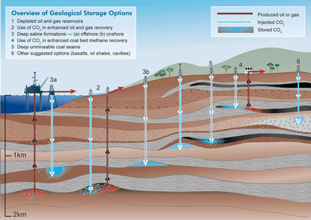 Overview of Geological Storage Options