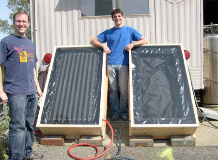 2 early prototypes of the UCB solar water