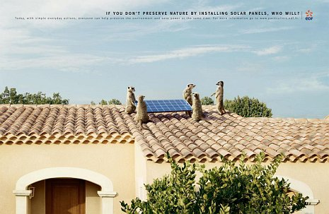 If you don't preserve nature by installing solar panels, who will?