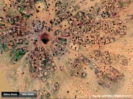 Satellite image of Angabo, Sudan prior to attack