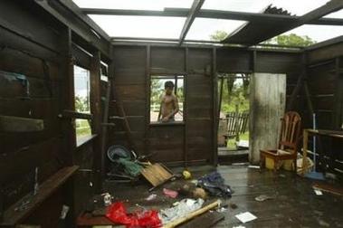 House damaged by Hurricane Felix