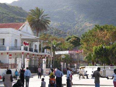 Main square in Cap Haitien