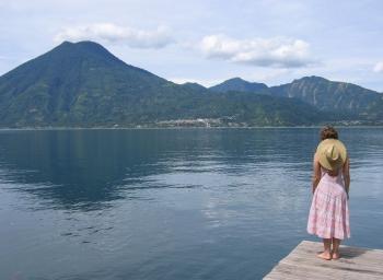 Lisa at Lago Atitlan