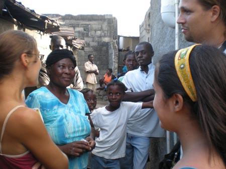 Madame Bwa, our community liaison