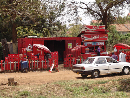 Coke Emblazoned Shop in Recycled Shipping Container