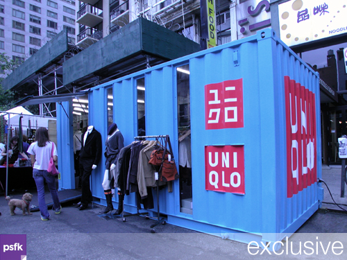 Temporary Uniqlo Store