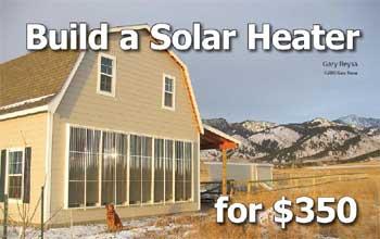 Build a solar heater for $350