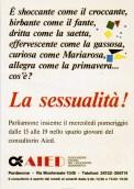 La sessualità! Pordenone, aprile 1985.
