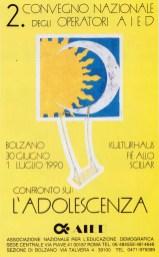 L'adolescenza. Bolzano, 30 giugno-1 luglio 1992.