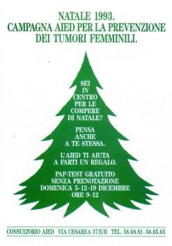 Campagna AIED per la prevenzione dei tumori femminili. Genova, dicembre 1993.