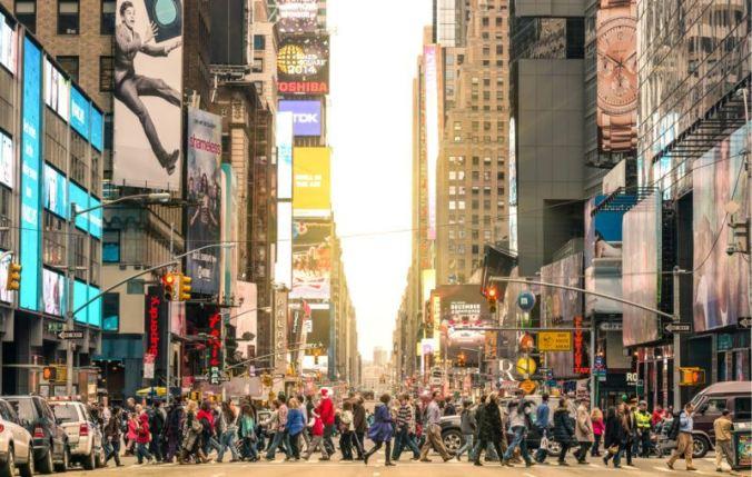 americans, walking, new york