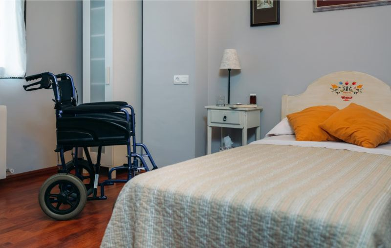 nursing home, bed, wheelchair