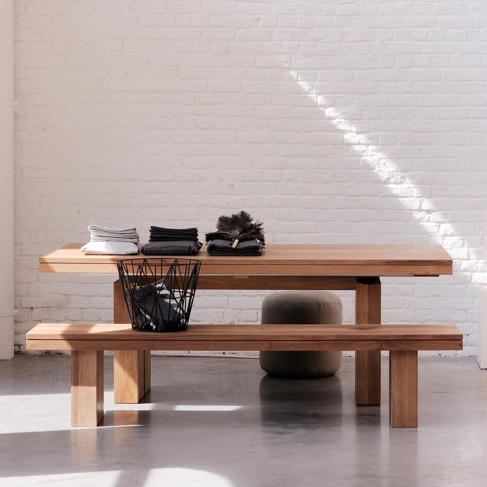 Ethnicraft Teak Double Extendable Dining Table