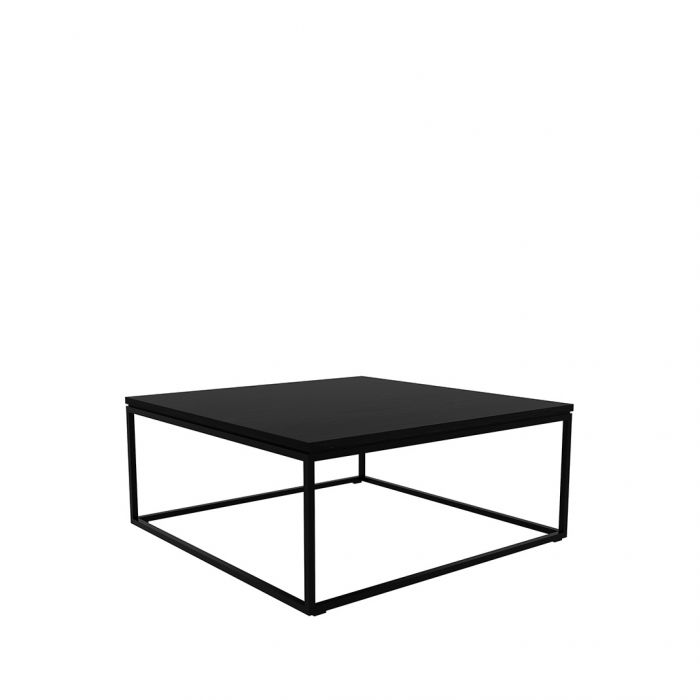 ethnicraft oak thin coffee table black