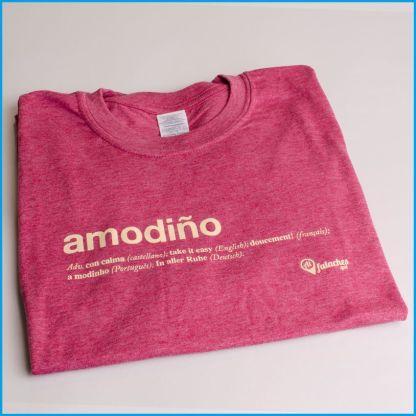 camiseta amodiño vermella