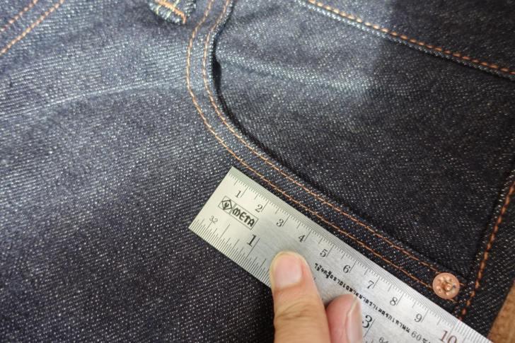 ジーンズの縫製のピッチ・運針数
