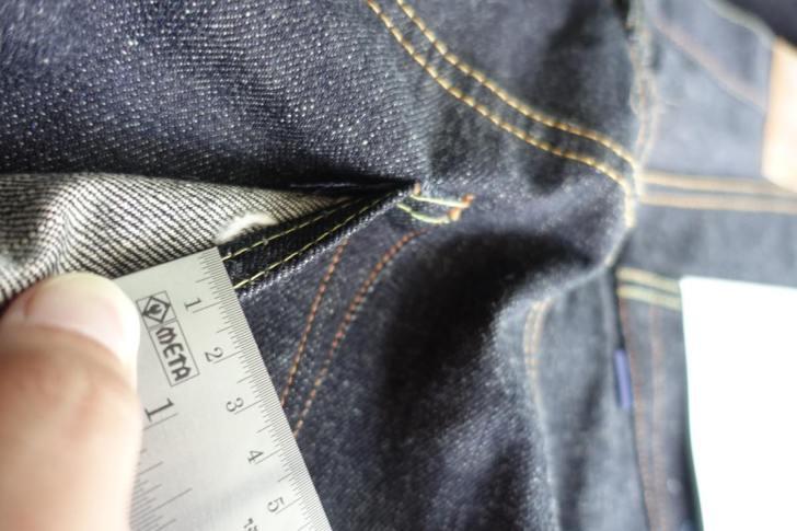ジーンズの縫製のピッチ